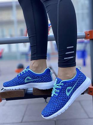 Кросівки жіночі (ПІНА) 8 пар в ящику синього кольору 36-41, фото 3