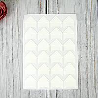 Уголки для фотографий, белые самоклеющиеся на листе 24 уголков