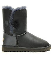 Сапожки серые UGG Bailey Button Оригинал с пропиткой
