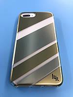 Iphone 7+ Plus / 8+ Plus -  Пластиковый чехол с принтом (полоски)