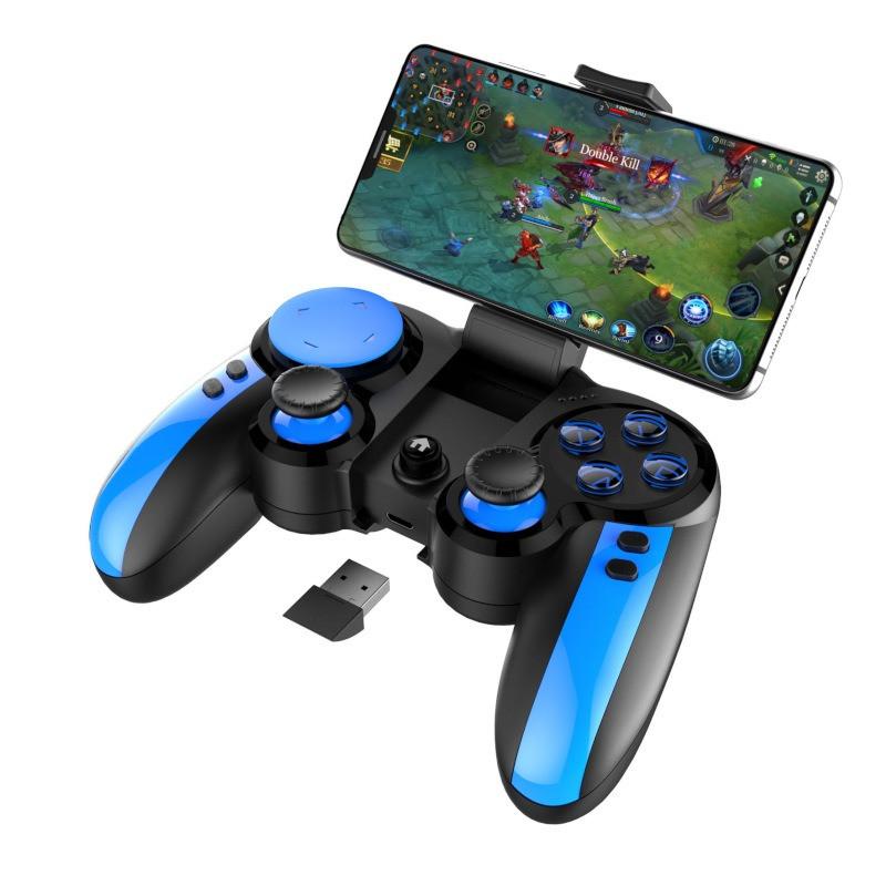 Игровой геймпад для смартфона беспроводной игровой джойстик геймпад Android,iOS,PC IPega PG-9090 Blue Elf