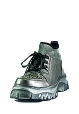 Черевики демісезон жіночі Allshoes срібний 21079 (36), фото 3