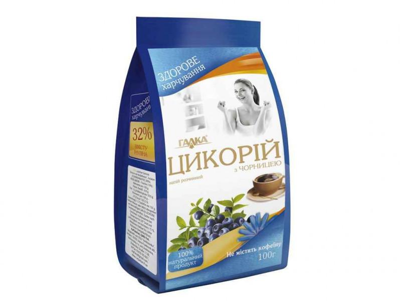 Напиток из цикория с черникой растворимый 100 грамм