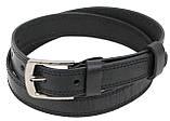 Детский кожаный ремень для брюк Skipper черный, фото 2