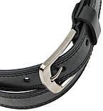 Детский кожаный ремень для брюк Skipper черный, фото 4