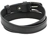 Детский кожаный ремень для брюк Skipper черный, фото 5