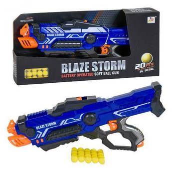 Детское оружие Бластер с паралоновыми пулями 5 шт