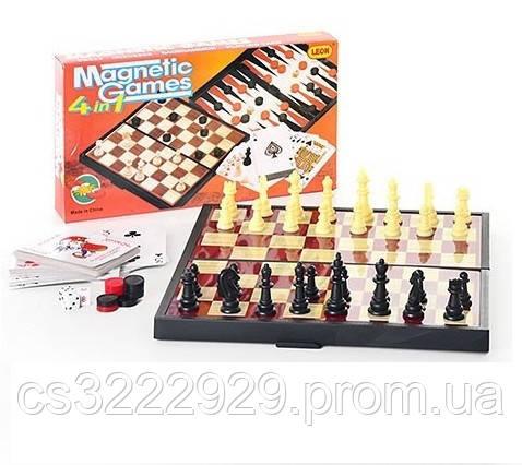 """Шахматы магнитные 9841  """"4в1"""""""