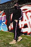 Штаны утеплённые чёрные с лампасами Champion, фото 2