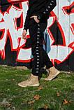 Штаны утеплённые чёрные с лампасами Stussy, фото 3