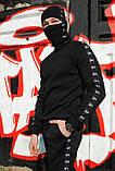 Штаны утеплённые чёрные с лампасами Stussy, фото 5