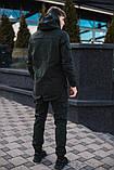 Мужской костюм хаки демисезонный Softshell Intruder. Куртка мужская хаки, штаны утепленные., фото 2