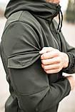 Мужской костюм хаки демисезонный Softshell Intruder. Куртка мужская хаки, штаны утепленные., фото 5