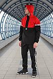Комплект демісезонний анорак+штани Puma XTG Woven Set (Чорно-червоний), фото 3