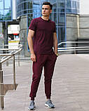 Бордовые мужские спортивные штаны весна-осень, фото 2