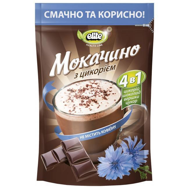 Растворимый напиток из цикория 3 в 1 Мокачино Elite без кофеина 190 грамм