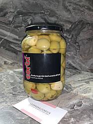 Оливки Corbi з перцем, часником і травами 835 грм