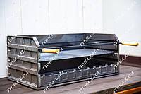 Чугунное разборное барбекю 74см. с чугунной решеткой и рамкой для шампуров. BBQ - вставка