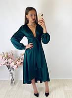 Женское зеленое платье Boohoo, оригинал, Великобритания, размер L(Укр 44-46)