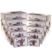 """Набор подарочных коробок для упаковки """"Прованс"""" 10 шт. (большие размеры), фото 1"""