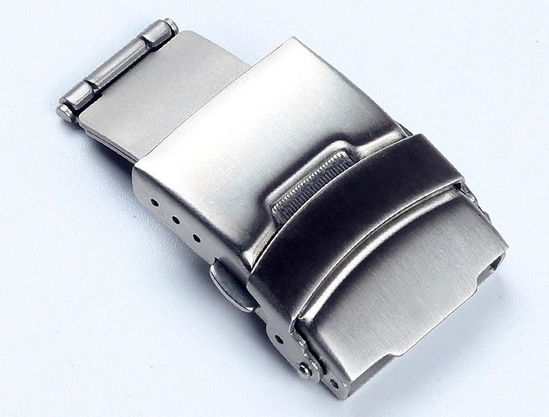 Застежка раскладывающаяся, замок из нержавеющей стали для часового браслета. 22 мм