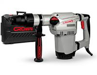 CROWN Перфоратор CT18118 BMC, сила удара 10 Дж,патрон SDS-MAX,макс диаметр сверл в бетоне 40 мм, 2 режима