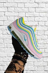 Женские кроссовки Nike Air Max 97 Yellow Pink / Найк Аир Макс 97 Желтые Розовые
