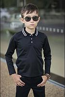 Детская рубашка Polo подросток школьная белая черная рубашка размер: 122, 128, 134, 140, 146