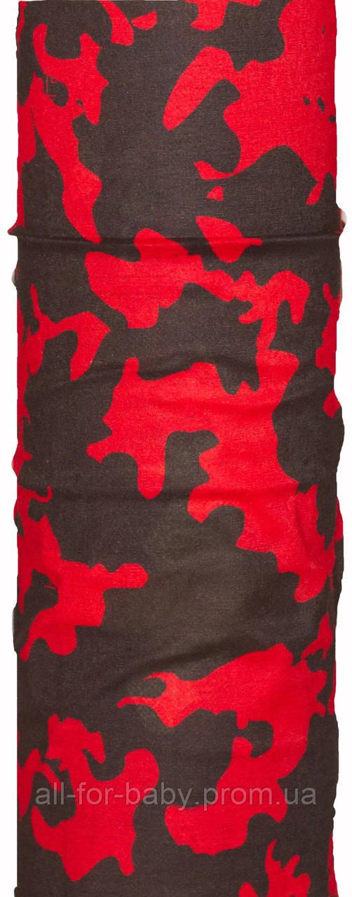 Купить Бандана-трансформер (Бафф) Красное И Черное (BT001/1)