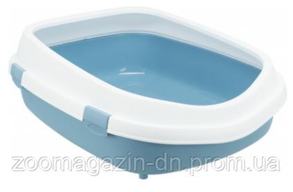 """Туалет для кота """"Primo XXL""""с рамой, Trixie, 56х25х71см, синий/белый"""