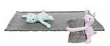 "Набор""Junior""коврик/мишка(плюш), TRIXIE, 75х50см, серый/сиреневый, фото 2"