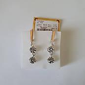 Серебряные серьги висюльки с камнями 540у