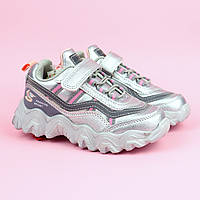 Детские кроссовки для девочки серебро тм Tom.M размер 27,28,29,30,31,32