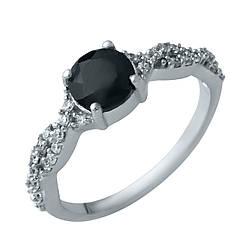 Серебряное кольцо pSilverAlex с натуральным сапфиром (1930212) 18 размер