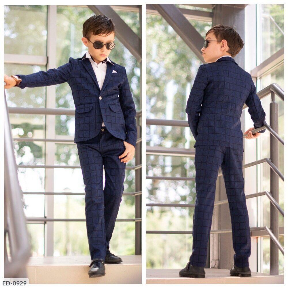 Стильный костюм пиджак+брюки, дорогая турецкая ткань высокого качества. Размер: 122, 128, 134, 140, 146.