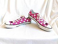 Кеды Converse All Star с принтом звёзд (размер 40-41, UK8, EU41,5)