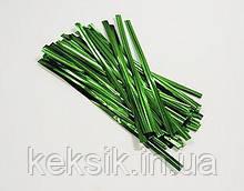 Проволока зажим для упаковки зеленая 50 шт