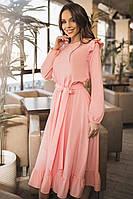 Женское платье нежного цвета Авентура