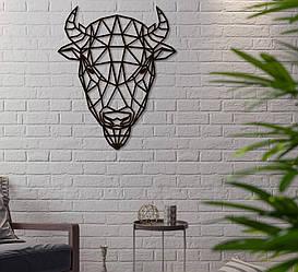 """Декор для стен. Панно из металла """"Зубр"""""""