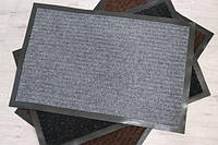 Коврик придверный резиновый с ворсом 40*60 см влаговпитывающий серый полоса