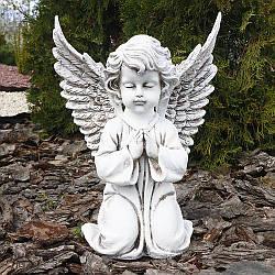 Садовая фигура Ангел большой бежевый 35 см