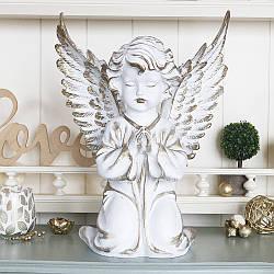 Статуэтка Ангел большой 35 см белый с золотом