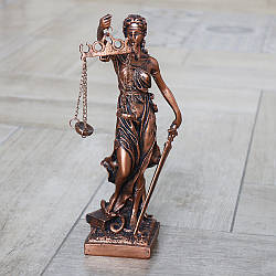 Статуэтка Фемида 29 см полистоун бронзовый
