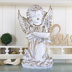 Статуэтка из полистоуна Ангел с пиалой 34 см