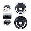 Светодиодное селфи кольцо  USB Кольцо с подсветкой для телефона  Selfie Ring Light RK-12, фото 5