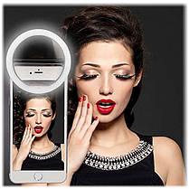 Светодиодное селфи кольцо  USB Кольцо с подсветкой для телефона  Selfie Ring Light RK-12, фото 3