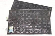 Придверний гумовий килимок 37x58 см захисний в коридор влаговпитывающий нековзний