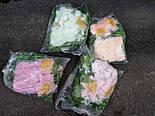 Ладья роза с лилией  с росой 130 см 4 расцветоки, фото 2