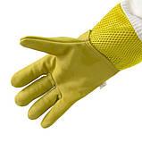Перчатки пчеловода с вентиляцией (кожа+сетка) L, фото 3
