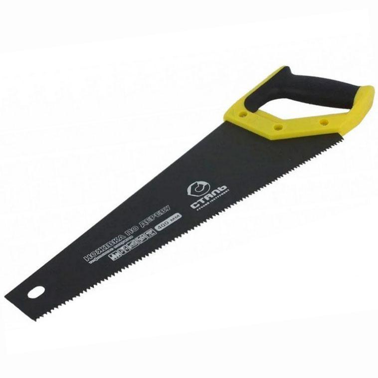 Ножівка по дереву 400мм з тефлоновим покриттям Сталь 40118 (69720)